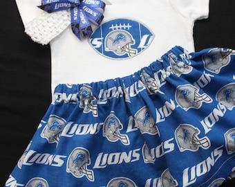 Detroit Lions 3pc Girls Bodysuit set