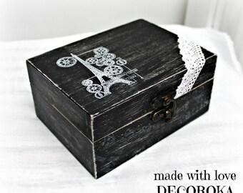 Romantic EIFFEL wooden rectangular box