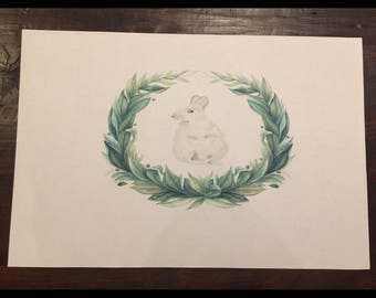Bunny with wreath