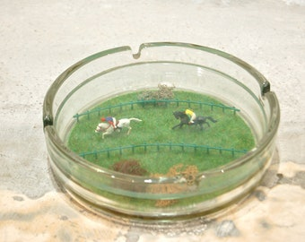 Vintage diorama ashtray