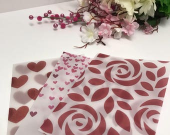Flying Hearts and Roses Vellum Set