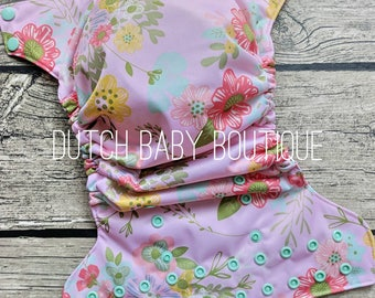Spring Florals Cloth Diaper