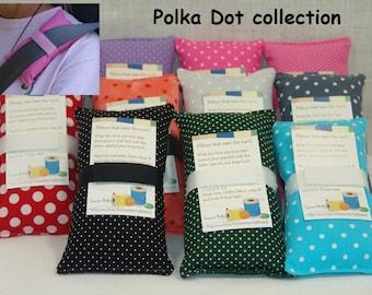 Port pillow, Porta pillow, Port-a-Cath, seat belt pillow, seatbelt cushion, Chemo Port, Breast Cancer pillow, car pillow, pink polka dots