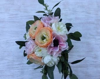 Bridal bouquet - Peonies, Ranunculas, Wedding Bouquet, Spring Bouquet