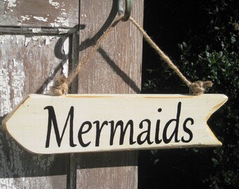 Mermaid Sign,Beach Decor,Reclaim Wood Sign,Rustic Sign,Wood Mermaids Sign,Nautical Decor,Coastal Living,Mermaid Theme,Kids Room,Sea Creature