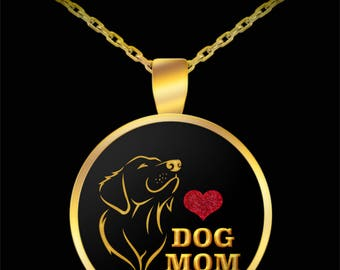 Dog Mom Mother's Day Gift Necklace Animal Lover Rescue (Choice of Metal)