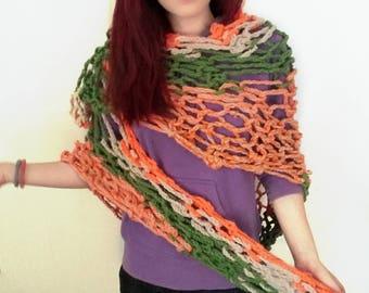 Adjustable shawl-jacket-scarf