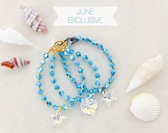 48 Hours Only - June Exclusive Bracelet - Sea Glass Crystal Bracelet