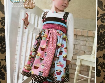 Pink Fig patterns No.11 the Cuppy Cake dress sizes 12 months to 10 years uncut factory folded pattern
