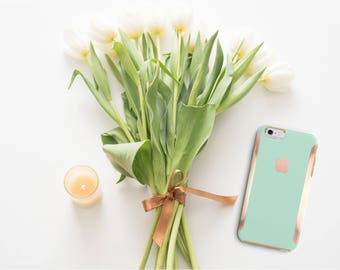 Paris Green Mint and Rose Gold Hard Case Otterbox Symmetry iPhone 6 / iPhone 7 / Galaxy S7 , Galaxy S8 , Galaxy S8 Plus - Platinum Edition