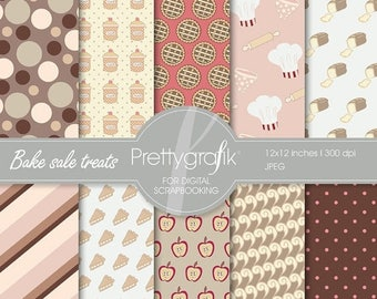 80% OFF SALE Bake sale digital paper, commercial use, scrapbook papers, background - PS525
