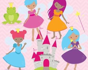 80% OFF SALE Fairy princess clipart commercial use, vector graphics, digital clip art, digital images  - CL790