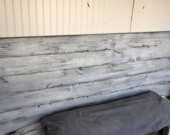 """Rustic headboard """"White Washed Simplicity"""""""