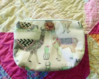 Llama and cacti purse