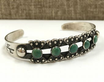 Vintage Fred Harvey  Native American Turquoise Cuff Bracelet!!! Free US Shipping!!!