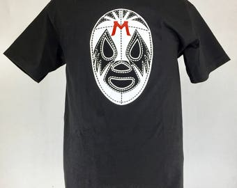 LUCHAS LIBRES - Mil mascaras Mexican Wrestling silk screen T-shirt