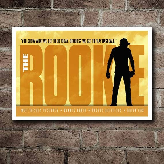 THE ROOKIE Movie Quote Poster