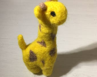 Geoff the Giraffe - Needle-Felted Miniature Giraffe