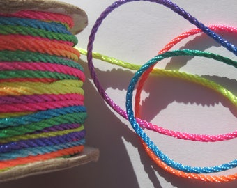 1 m of yarn braided multicolor color soft and shiny (25)