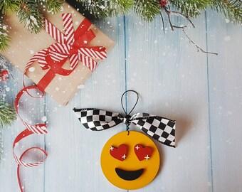 Emoji Christmas Ornament