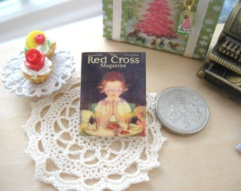 dollhouse vintage  12th scale red cross magazine