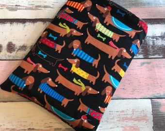 Planner/ Travellers Notebook  size Padded Slip Pouch - MADE TO ORDER - Book Cover - Book Pouch - Book Sleeve