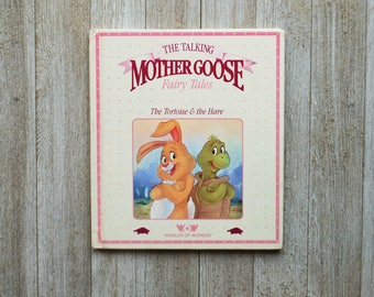 The Tortoise & the Hare, Talking Mother Goose | 1986 | Vintage Children's Book | children's library