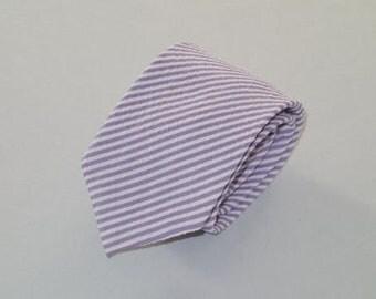 Purple Seersucker Tie
