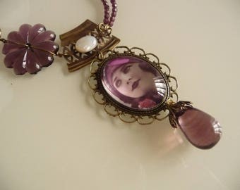 Retro summer memory necklace