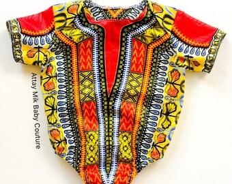 Dashiki Onesie.African Dashiki Onesie. Baby Dashiki. Dashiki outfit. Dashiki one piece outfit. African baby clothing. Baby african clothing