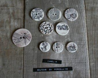 ref 015 porcelain 9 buttons