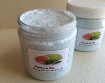 GUAVA FIG -Dead Sea Salt SCRUB-Handmade by Spa Uptown, vegan, 8 fl oz