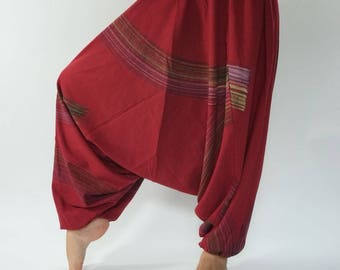 HC0312 Aladdin Pants, Harem Pants 100% Cotton, Unisex pants, Yoga pants