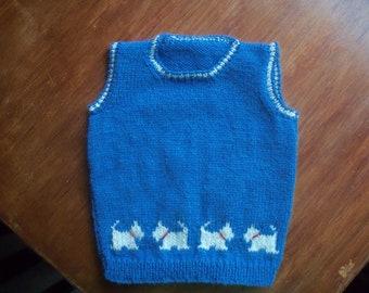Fairisle Hand Knitted Tank Top