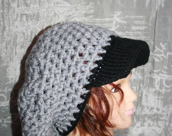 Hat autumn/winter grey and black