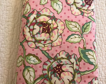 CLEARANCE Cabbage Rose Heather Bailey Freshcut Fabric PinkyPurple Quilters Cotton Pink Green 1 Yard