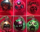 Miraculous Ladybug Ornaments