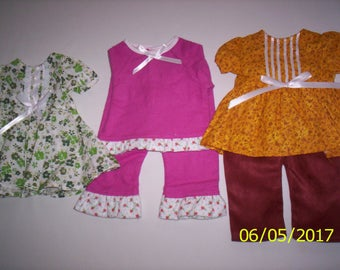 "Set of 3-18"" Doll Dress Fit American Girl-My Life-Our Generation-Madame Alexander & others"