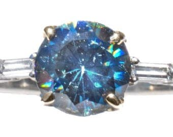 Unheated Ceylon Blue Spinel & Diamond Designer Ring