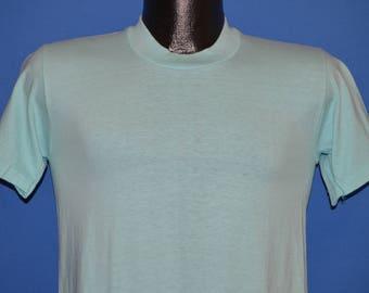 80s Stedman Teal Blank t-shirt Small