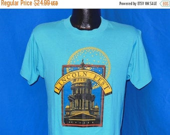 ON SALE 80s Lincoln Fest Nebraska Blue Vintage t-shirt Medium