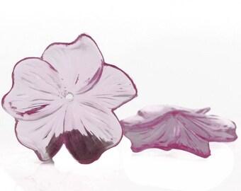 25mm flower in pink 5Pcs