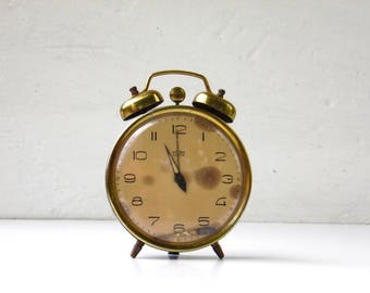 Vintage Blue Alarm Clock With Bell - MOM