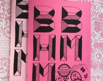 BBHMM zine - by Aitch Elle - illustration by Geneviève Darling - informative pro sex work zine - feminist zine - How to guide to stripping
