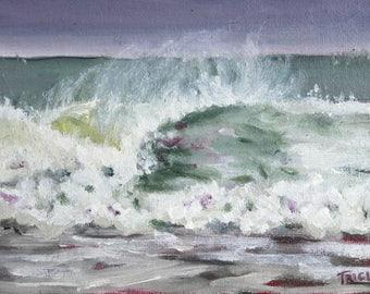 Oil Painting, Seaspray, Framed