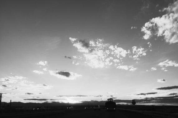 Boulder Sky Black and White Fine Art Photography Print