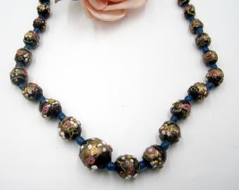 """Vintage  Italian wedding cake beads necklace 20 """""""