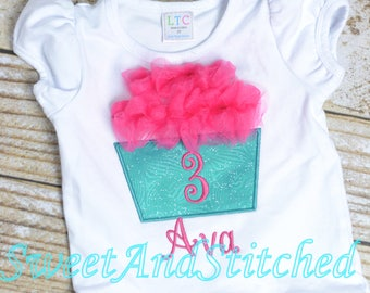 Girls Birthday Cupcake Outfit - Cupcake Birthday Shirt - Girl's 1st 2nd 3rd 4th 5th birthday cupcake shirt - birthday cupcake outfit!
