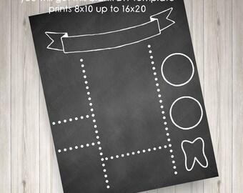 chalkboard template etsy. Black Bedroom Furniture Sets. Home Design Ideas