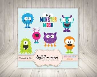 Monster Clipart, .PNG Personal & Commercial use, Instant Download!
